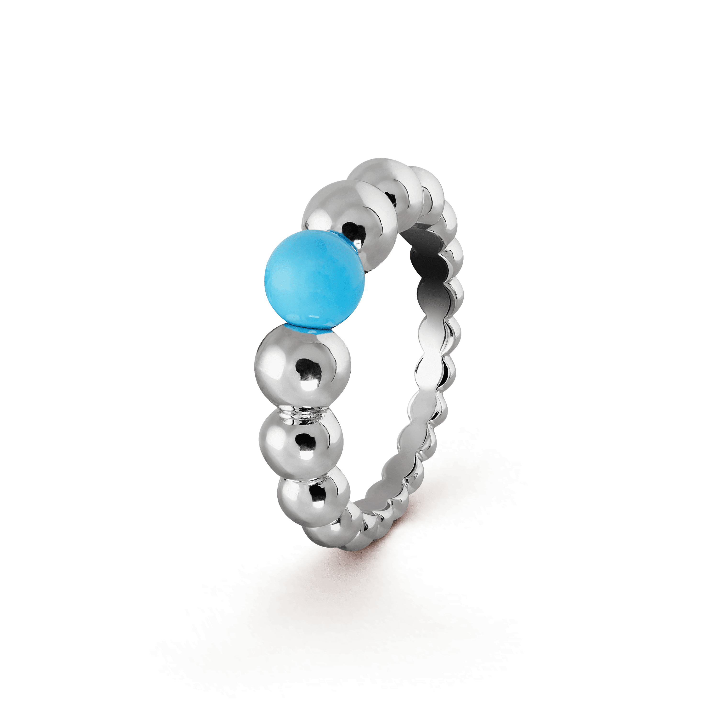 Perlée couleurs variation ring, - 3|4 View - VCARO63G00 - Van Cleef & Arpels